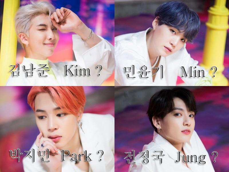 Les noms coréens, comment ça marche ?
